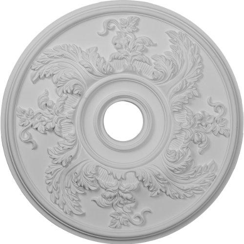 Lamp Acanthus (Ekena Millwork CM23AC 23 5/8-Inch OD Acanthus Twist Ceiling Medallion)