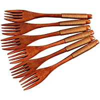 Ensalada de madera Bifurcación Tenedor Ecológico Reutilizable Tenedores