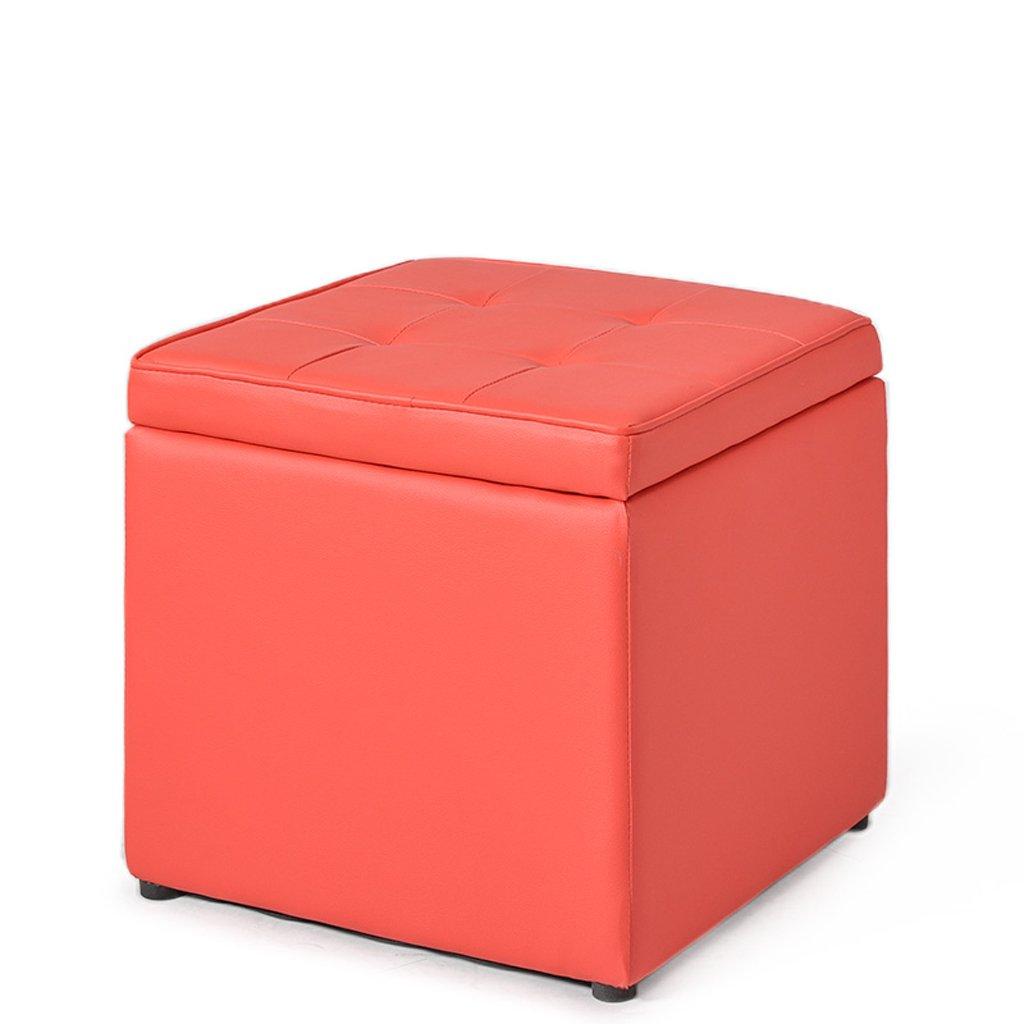 Hocker QX IAIZI Einfacher moderner lederner Schemel-Sofa-Schemel beschuht Bank (Farbe : Brown)