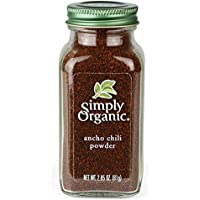 Simply Organic Ancho Chili Powder Certified Organic, 2.85 Ounce