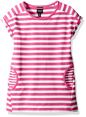 (French Toast Girls' Little Stripe Dolman Sleeve Tunic, Rose Violet 6)