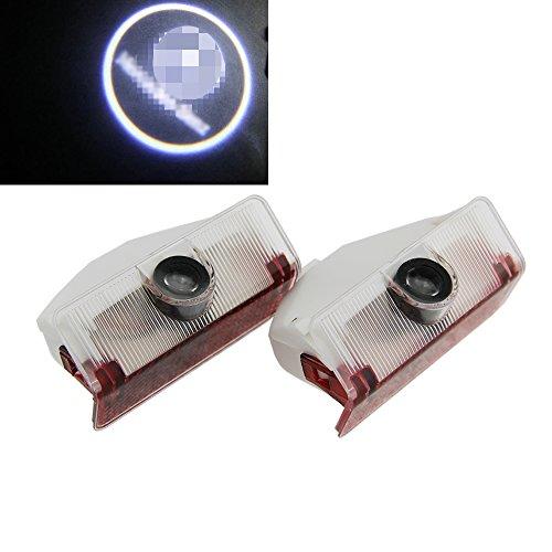 NSLUMO 2Pcs Car LED Door Lamp Logo Projector 3D Welcome Ghost Shadow Laser light For Mercedes Benz GLK 300 350 X204 Door Step Courtesy Welcome Light (Benz GLK)