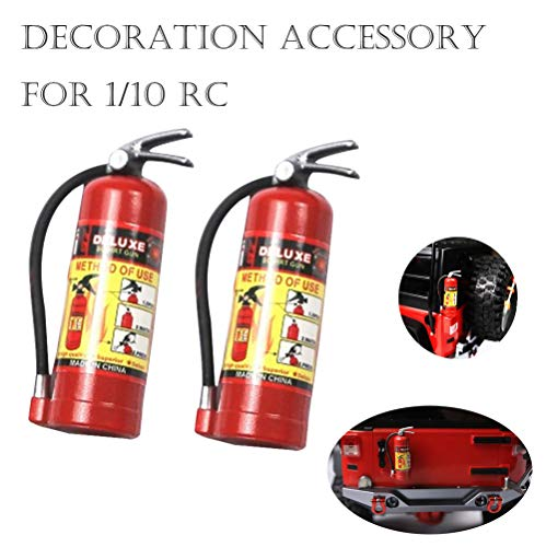 DICPOLIA Drone RC Climbing Car Accessory, Toys Premium Fireman Costume Firefighter Accessories Real Water Shooting Extinguisher Great Halloween Mini (2 x RC Accessory fire Extinguisher) ()