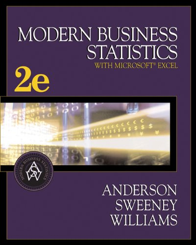 Modern Business Statistics (with CD-ROM and InfoTrac) (Available Titles CengageNOW)