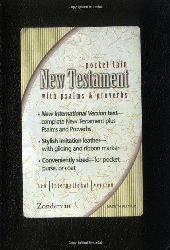 Niv Pocket Thin (NIV Pocket Thin New Testament With Psalms & Proverbs)