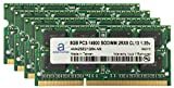 "Adamanta 32GB (4x8GB) Apple Memory Upgrade for Late 2015 iMac 27"" DDR3L 1867Mhz PC3-14900 SODIMM 2Rx8 CL13 1.35v RAM"