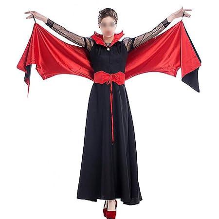 HUOFEIKE Disfraz de Brujo Vampiro murciélago de Estilo Oscuro ...