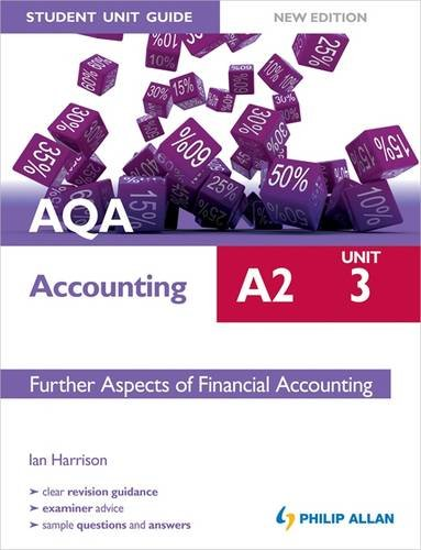 AQA A2 Accounting Student Unit Guide: Unit 3 Further Aspects of Financial Accounting