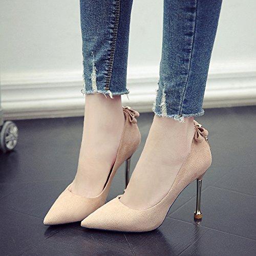 De Primavera De GAOLIM Mate Mujer La Y Solo Color Señaló Zapatos Thin Caqui A De Tacones Primavera Con Zapatos Comienzos Altos IZEqc1y4E