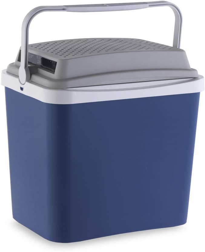 Campos 75228 Mini Nevera Portatil Electrica 24 L Fabricada en España, se Puede enchufar a la Toma de 12 V del Coche, Azul/Gris, 24L