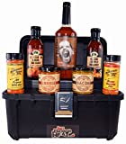 BBQ Sauce Toolbox Gourmet Gift Set - Barbecue Food Basket for Men & Women by Just Enough Heat