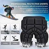 Huntvp Protective Hip Pad Padded Short Hip Butt Ski