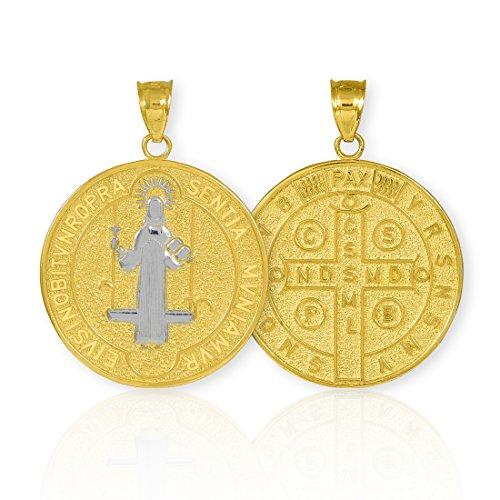 10 ct 471/1000 Or St. Benedict-Piece de Monnaien-Medaillon- Pendentif (M) Pendentif