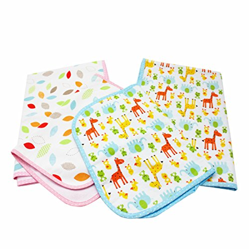 NinkyNonk Infant 3 Layers Waterproof Changing Pad Liners Baby Washable Diapering Sheet Protector,4 Pack (Multi Use Waterproof Pad)