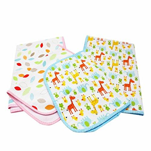 NinkyNonk Infant 3 Layers Waterproof Changing Pad Liners Baby Washable Diapering Sheet Protector,4 Pack (Waterproof Use Pad Multi)