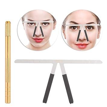 Regla de cejas, regla de posicionamiento de tres puntos Maquillaje ...