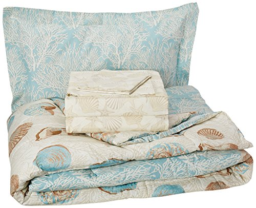 Discoveries 2A850103BL Queen Comforter Set, Blue (Beach Bedding Sheets)