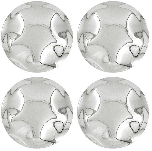 OxGord CC-3329-CH Chrome Center Caps Set of 4