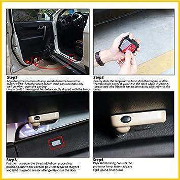 2 Pack For Biden 2020 Car Door Led Welcome Projector Car Door Courtesy Light Suitable Fit for all brands of cars Biden 2020