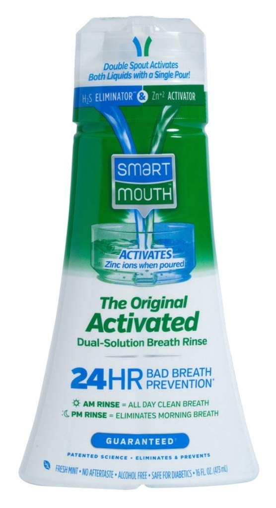 Smart Mouth Original Activated 24Hr Breath Rinse 16 Ounce (473ml) (6 Pack)