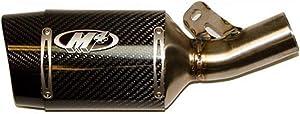 M4 Street Slayer Slip-On Exhaust (Carbon Fiber) for 13-20 Kawasaki ZX636