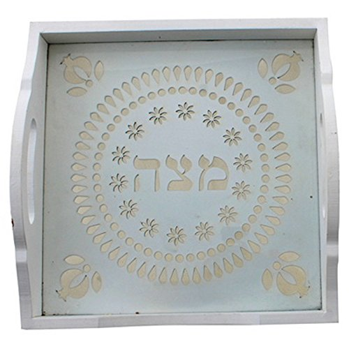 Unique Laser Cut Wooden Tray Holder for Passover Matzah