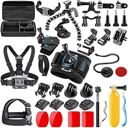 لوازم جانبی دوربین ورزشی SmilePowo دارای 42 قطعه