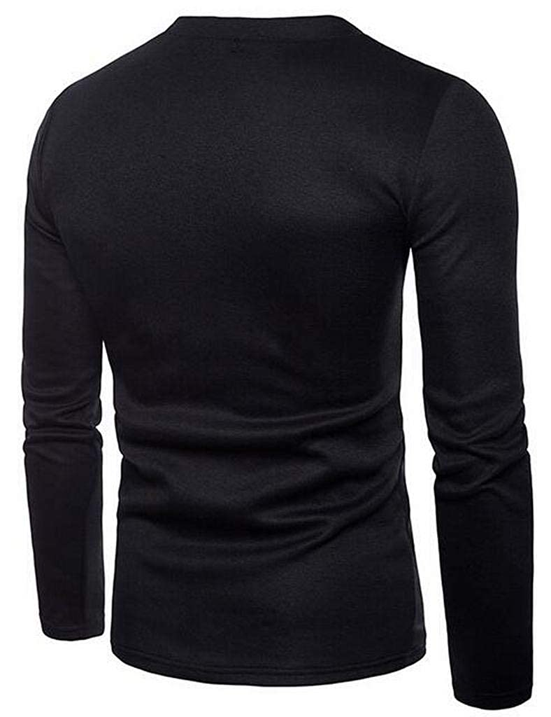 ARTFFEL Mens Knit Deep V-Neck Casual Solid Color Pullover Sweaters Jumper