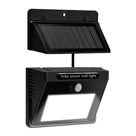 doogu Solar Sensor de movimiento luces al aire libre hiluckey resistente al agua Funciona con energía