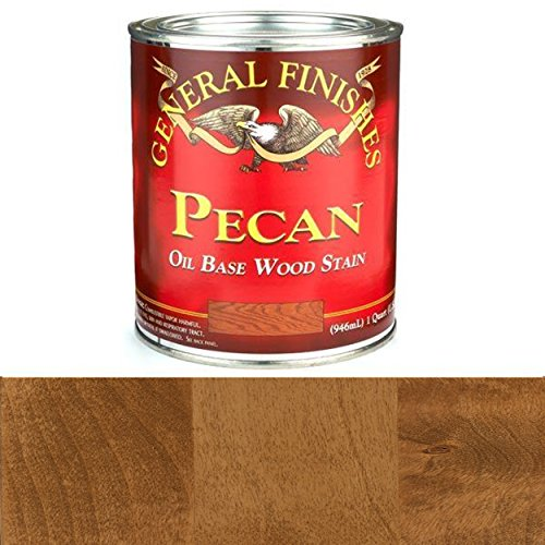 General Finishes PEQT Oil Based Penetrating Wood Stain, 1 Quart, Pecan ()