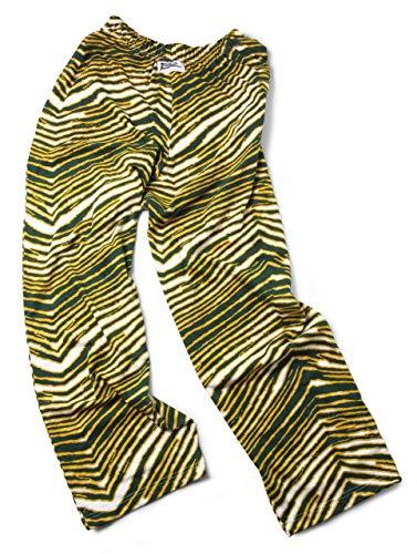Zubaz Men's Standard Classic Zebra Printed Athletic Lounge Pants, Green/Gold, L]()