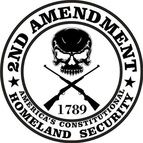 (2nd Amendment Vinyl Decal Sticker Americas Constitutional Homeland Security 3inch Round Premium Quality UV Resistant Laminate)