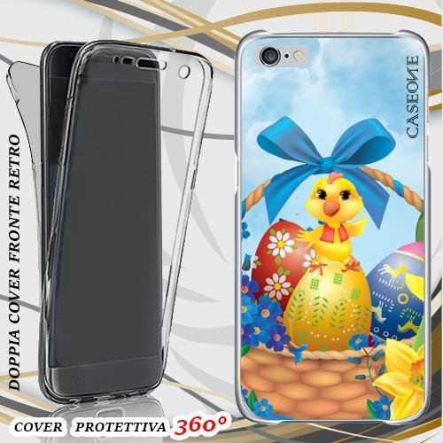 CUSTODIA COVER CASE CHIC EASTER PER IPHONE 6 PLUS FRONT BACK