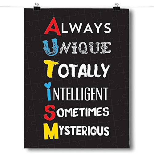 Inspired Posters A.U.T.I.S.M Autism Awareness Poster