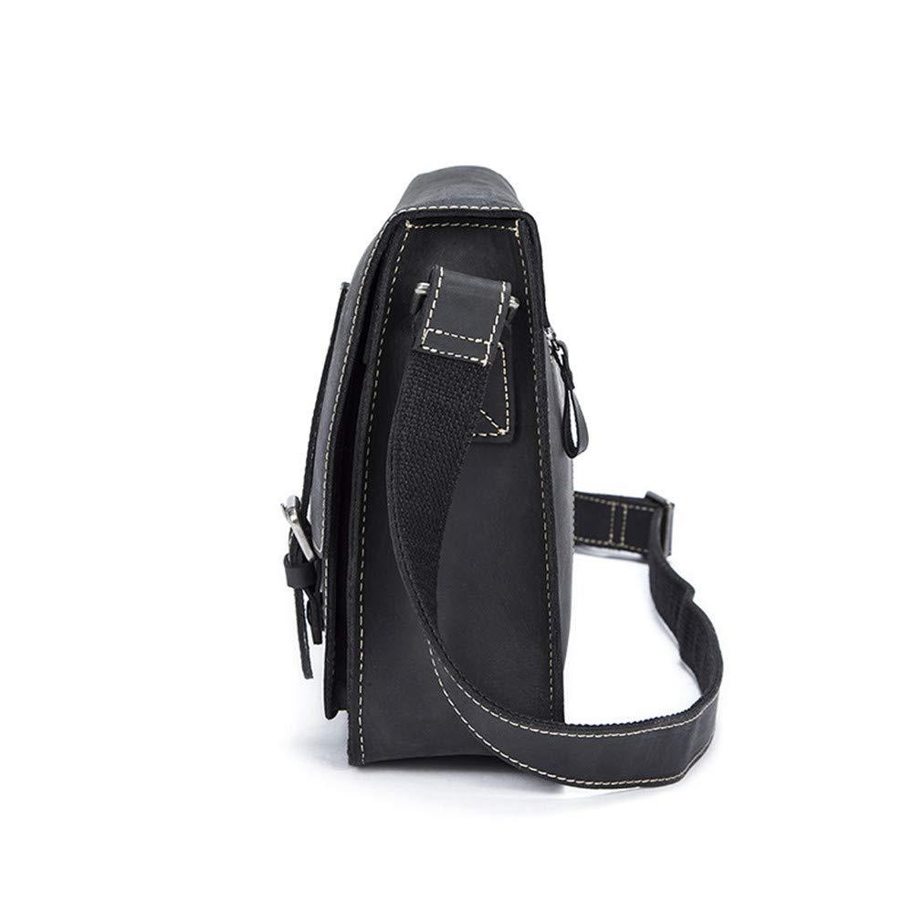 Balalafairy Lightweight Messenger Bag Men's Messenger Shoulder Bag Vintage Leather Briefcase Crossbody Day Bag for School and Work Adjustable Shoulder Strap by Balalafairy (Image #3)
