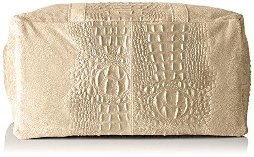 Chicca Borse 80043 - Bolsos de mano Mujer Gris (Fango)