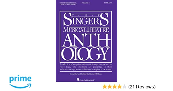 singers musical theatre anthology vol 4 hal leonard corp richard walters 0073999685534 amazoncom books