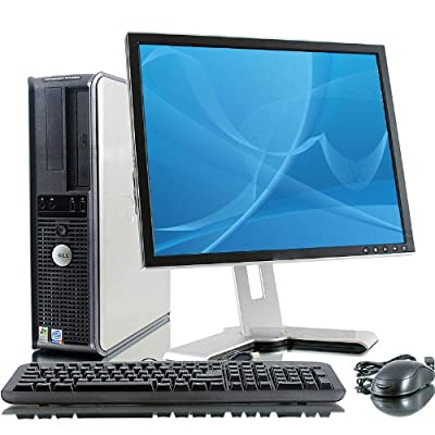 "Dell Optiplex GX620 Pentium D 2800 MHz 400Gig Serial ATA HDD 4096mb DDR2 Memory DVD ROM Genuine Windows 7 Home Premium 32 Bit + 19"" Flat Panel LCD Monitor Desktop PC Computer"