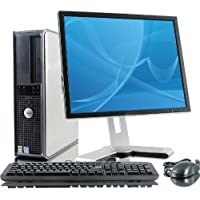 Dell OptiPlex Intel Pentium 4 3000 MHz, 80GB Serial ATA HDD, New 4096mb Memory, DVD ROM, Genuine Windows 7 Home Premium 32 Bit + 17 Flat Panel LCD Monitor(Brands may vary)-(Certified Reconditioned)