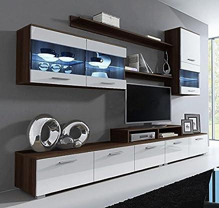 letti e mobili - mobile da soggiorno claudia wenge e bianco mod ... - Mobili Soggiorno Bianco E Nero 2