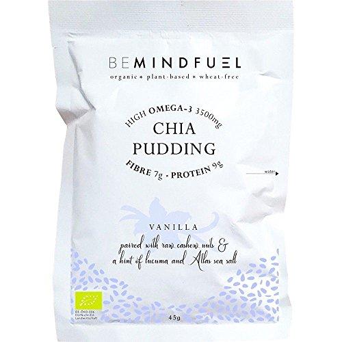 Bemindfuel Organic Chia Pudding Mix Vanilla 40g (Pack of 10)