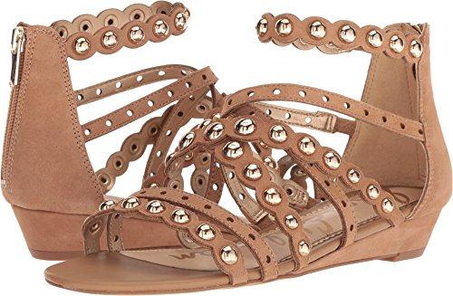Sam Edelman Women's Dustee Wedge Sandal, Golden Caramel Suede, 5.5 M US