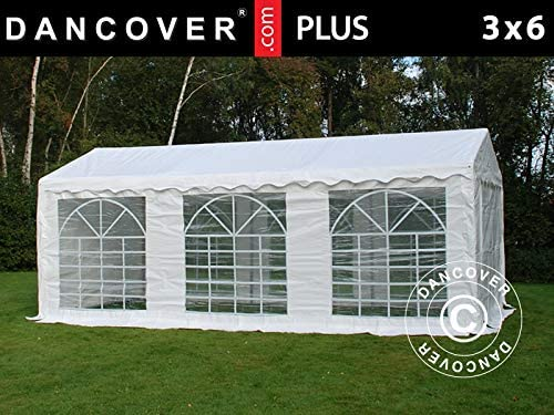 Dancover Carpa para Fiestas Carpa Eventos Plus 3x6m PE, Blanco: Amazon.es: Jardín