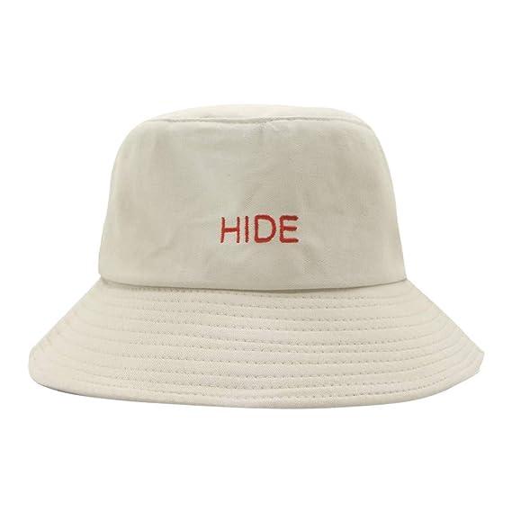 Loolik Moda Unisex Gorra Letra Impresión Hide Sombrero de Pescador ...