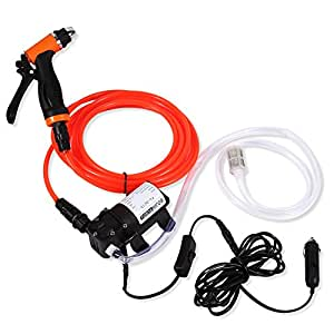Car Wash Pump, 12V Portable High Pressure Self-priming Quick Car Cleaning Water Pump Electrical Washer Kit