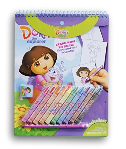 (Learn to Draw Dora the Explorer Kit - Includes Crayons, Eraser, and Mechanical)