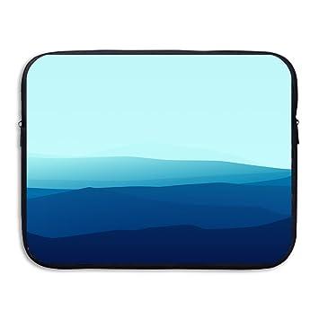 d-muse azul montaña portátil manga bolsa bolsa con cremallera funda MacBook Pro MacBook Air ordenador portátil bolsa de almacenamiento Blue Mountain 13 ...