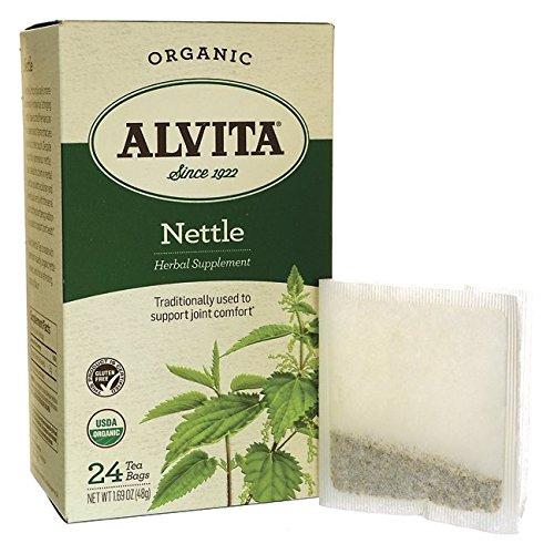 Alvita Organic Herbal Tea Bags, Nettle Leaf, 24 (Alvita Teas Nettle Leaf Tea)