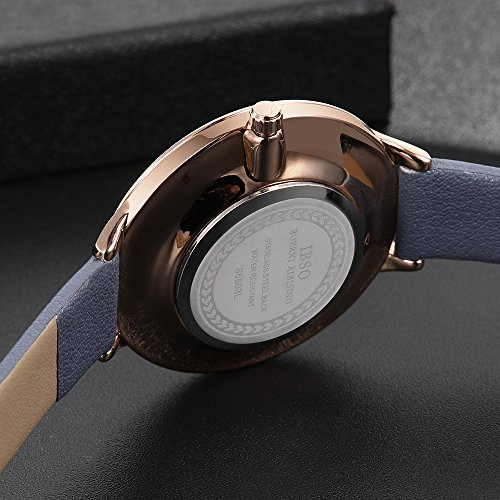 149d9e03c IBSO Women Fashion Simple Watch Ultra-Thin Retro Quartz Analog Leather  Strap Ladies Wristwatch (