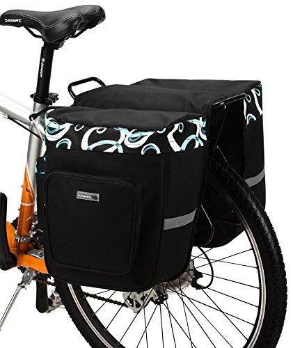 ArcEnCiel Bicycle Rear Seat Trunk Both Side Bag Handbag Bag Pannier